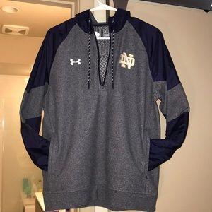 Notre Dame hooded quarter zip